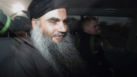 Muslim Cleric Abu Qatada is driven out of the prison gates after he was released on November 13, 2012 in Worcestershire, England.
