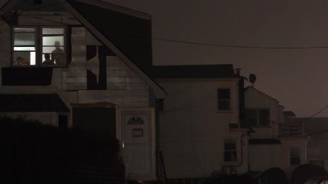 """One room has power Monday in Rockaway, where many areas are still without electricity.  """"If you don't have your power back, it probably means power can't be restored to your home at this time,"""" New York Gov. Andrew Cuomo said Monday afternoon."""