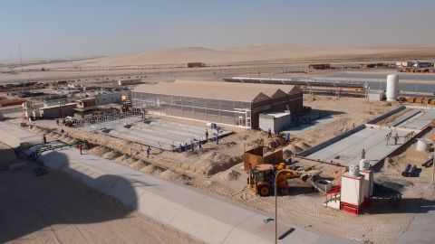 This dusty construction site in Mesaieed Industrial City, Qatar will be transformed into a center of food and freshwater production by bringing together a range of innovative green technologies.