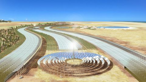 The ultimate aim of the Sahara Forest Project is to return vast areas of desert back to life, providing food, water and clean energy in barren, resource-poor areas around the world.
