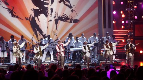 """Ralph Tresvant, Michael Bivins, Ronnie DeVoe, Ricky Bell, Bobby Brown and Johnny Gill of New Edition perform an homage to Michael Jackson during the 2009 BET Awards. The R&B group's albums include 1983's """"Candy Girl"""" and 1988's """"Heart Break,"""" among others."""