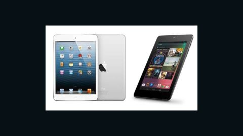 """When in doubt, it's hard to disappoint Dad with an ultra-portable 7-inch tablet. The<a href=""""http://www.apple.com/ipad-mini/overview/"""" target=""""_blank"""" target=""""_blank""""> iPad Mini</a> (left) starts at <strong>$329</strong>, while Google's more affordable Android-based <a href=""""http://www.google.com/nexus/7/"""" target=""""_blank"""" target=""""_blank"""">Nexus 7</a> (right) starts at <strong>$199</strong> for a Wi-Fi-only, 16GB model. Or consider 7-inch <a href=""""http://www.amazon.com/Kindle-Dolby-Audio-Dual-Band-Wi-Fi/dp/B0083PWAPW/ref=r_kdia_h_i_gl"""" target=""""_blank"""" target=""""_blank"""">Amazon's Kindle Fire HD tablet</a>, also starting at <strong>$199</strong>."""