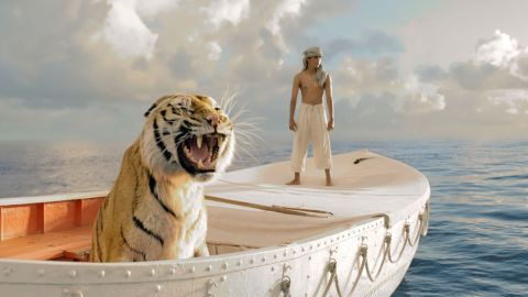 """Suraj Sharma played the title character in the 2012 film """"Life of Pi,"""" based on Yann Martel's novel about a boy's struggle for survival after his ship, which was carrying zoo animals, sank in a storm. Pi spent many uneasy days at sea in a lifeboat with a Bengal tiger."""