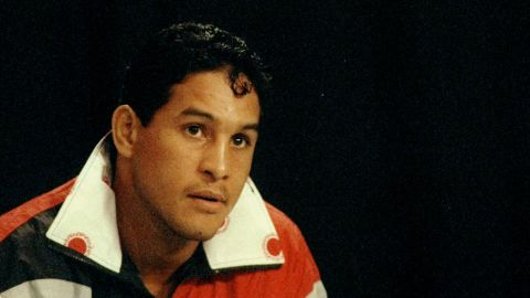 """Famed Puerto Rican boxer Hector """"Macho"""" Camacho, seen here in 1993, died Saturday, November 24. A gunman shot him in the face two days earlier in front of a bar in his hometown of Bayamon, Puerto Rico."""