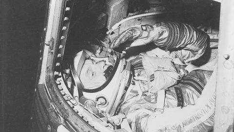 John Glenn, aboard the Friendship 7, became the first American to orbit the Earth on February 20, 1962. He also set a record as the oldest astronaut in space when, at the age of 77, he went on a  mission aboard the Space Shuttle Discovery in 1996.