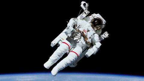 In February 1984, astronaut Bruce McCandless became the first astronaut to float in space untethered, thanks to a jetpack-like device called the Manned Maneuvering Unit. The units are no longer used, but astronauts now wear a similar backpack device in case of emergency.