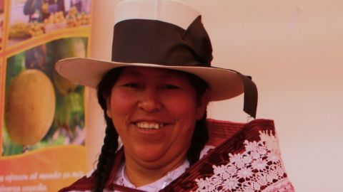 Peruvian farmer Marisol Medrano:  The rainfall pattern has changed so much and is one of the causes for the appearance of plagues and diseases as 'red poncho' which affects our corn crops.