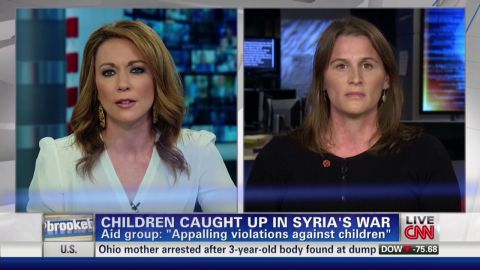 NR  Kimberly Brown discussion on children and Syria's war _00024127