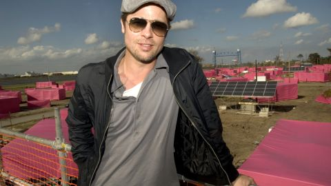 """Along with his partner Jolie, Pitt made an effort to give back. Through his <a href=""""http://makeitright.org/about/"""" target=""""_blank"""" target=""""_blank"""">""""Make It Right""""</a> organization, which builds sustainable homes for communities in need, he planned the construction of 150 eco-friendly homes in the Lower Ninth Ward of New Orleans."""