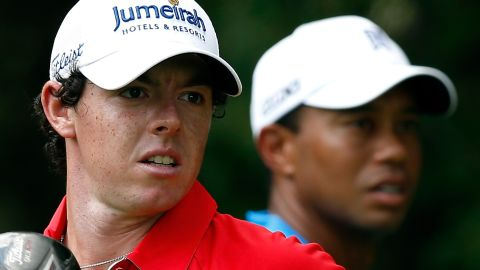 """McIlroy has admitted idolizing Woods as a boy, but has now usurped him as golf's No. 1. """"Once they step on the first tee, those competitive juices are flowing and they're focused either on their own game or beating each other,"""" Abrahams said."""