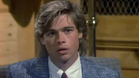 """TV fans might remember a youthful Brad Pitt launching his career with appearances on """"Another World,"""" """"21 Jump Street"""" and """"Dallas"""" in his early 20s. Here, he's seen as a recurring character named Randy on """"Dallas,"""" a role he held from 1987 to 1988."""