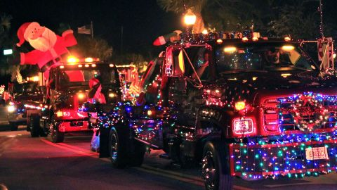 """In the Floridian coastal town of Sebastian, """"people decorate cars and boats to show their spirit of Christmas"""" before parading them through town, said <a href=""""http://ireport.cnn.com/people/postman555"""">Billy Ocker</a>. """"Old cars, boats, bikes, tow-trucks, fire trucks and floats,"""" are a common sight. """"Anything that has wheels would be allowed,"""" he added."""