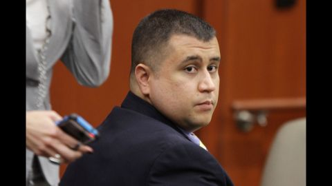 <strong>October 19: </strong>George Zimmerman watches during his hearing at the Seminole County Courthouse in Sanford, Florida. He will go on trial June 10, 2013, for the killing of 17-year-old Trayvon Martin. The neighborhood watch volunteer is charged with second-degree murder in the February 26 shooting.