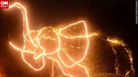 """iReporter Aaron Banaticla loved this <a href=""""http://ireport.cnn.com/docs/DOC-887310"""">outlandish elephant light display</a> near his Laguna home, although he was at a loss to explain why locals had chosen the creature for their Christmas decorations."""