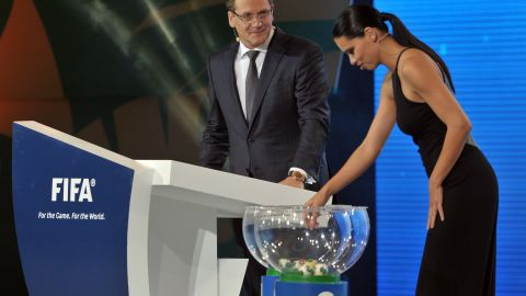 Brazilian model Adriana Lima was enlisted to help with the draw for the tournament, which is traditionally staged by the World Cup host as a warmup event and features eight nations.
