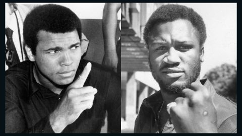 """Muhammad Ali, left, """"demonized"""" Joe Frazier to hype up their fights despite being showed respect outside the ring by his rival. """"He came up with the gorilla term to create a spectacle, which he knew was important, but it revved himself up too,"""" Tu says. """"He needed to have a real enemy. By the end of the (Manila) fight, he said that Frazier brought out the best of him."""""""