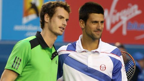 """A new rivalry has grown in tennis this year between U.S. Open and Olympic champion Andy Murray, left, and childhood friend Novak Djokovic, the world No. 1. """"People say that Murray and Djokovic are close but I think it's rare,"""" Tu says. """"The best sporting rivalries are the ones where there are these very distinct, almost opposite personalities, but they're very close in terms of their competence."""""""