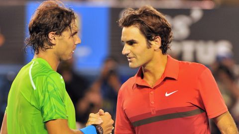 """Rafael Nadal, left, ended the tennis dominance of Roger Federer but they have publicly expressed their friendship despite reports of arguments about on-tour issues. """"As people get older they've done so much, broken lots of records, I think that competitive edge is slightly dulled,"""" Tu says. """"That makes it easier to be friendlier. You can keep your dignity if you're not crying every time you lose to a younger, faster athlete."""""""