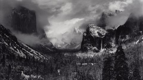 Clearing Winter Storm, Yosemite National Park, California, about 1937.
