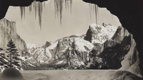 From Wawona Tunnel, Winter, Yosemite, about 1935.