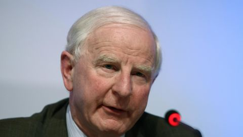 European Olympic Committee (EOC) President Patrick Hickey gives a press conference after the EOC's 37th general assembly in Istanbul on November 22, 2008. AFP