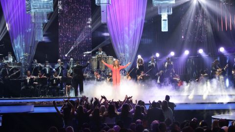 """Rivera performs at the Billboard Latin Music Awards in April 2012. Rivera was known to fans as """"La Diva de la Banda,"""" or the Diva of Banda Music, establishing herself as a musical powerhouse with her Spanish-language performances of regional Mexican corridos, or ballads. In recent years, she had been working to crack the English-language U.S. market."""