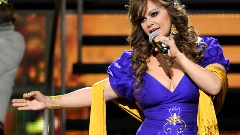Singer Jenni Rivera performs during the 11th annual Latin Grammy Awards in November 2010 in Las Vegas. Rivera, 43, died December 9, 2012, when the small plane she was traveling in crashed in the mountains of northern Mexico.