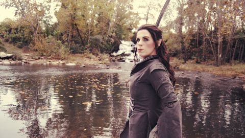 """<a href=""""http://ireport.cnn.com/docs/DOC-890571"""">Nadine Palmer</a> (portraying Arwen here) says she has loved Tolkien's stories since she was a teenager -- and especially the costumes in Peter Jackson's films -- and she has made a business out of creating these outfits. """"We've collected, made and worn bits of  memorabilia,"""" the San Antonio resident says. """"I've made a lot of costumes ... over the years, but (Tolkien-inspired) costumes have been made more times than anything else! I've made (everything) from Legolas to the Witch King."""""""