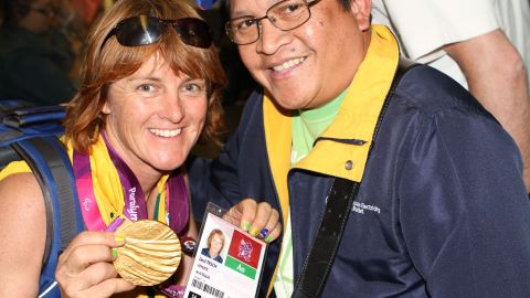 Australian paralympian Liesl Tesch during the 2012 London Games.