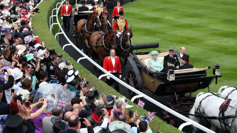 The crowd is a sea of camera phones as the Queen arrives at Ascot for the Jubilee Stakes. Celebrity horse owners such as the royal family, entertainers Ant and Dec and actress Judi Dench have helped raise the profile of the sport.