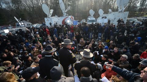 Connecticut State Police Lt. Paul Vance addresses the press on December 15.