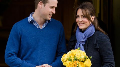 Britain's Prince William and his wife Catherine, Duchess of Cambridge, leave hospital on December 6, 2012.