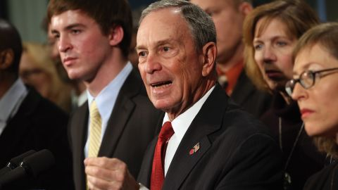 New York Mayor Michael Bloomberg speaks out for stronger gun control at a press conference at City Hall on December 17. Bloomberg, co-chair of Mayors Against Illegal Guns, was joined by victims and survivors of gun violence.