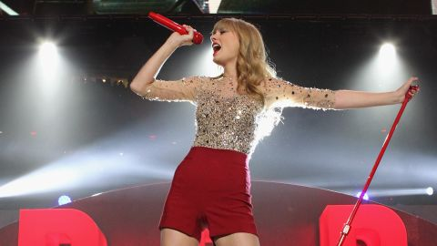 """""""We Are Never Ever Getting Back Together"""" is the first single off Taylor Swift's """"Red,"""" which was released in October. The tune is the country-pop princess's <a href=""""http://www.billboard.com/artist/taylor-swift/766101#/artist/taylor-swift/chart-history/766101?sort=position"""" target=""""_blank"""" target=""""_blank"""">first to hit No. 1 on the Billboard Hot 100</a>; it also earned Swift a <a href=""""http://marquee.blogs.cnn.com/2012/12/06/fun-dan-auerbach-frank-ocean-lead-grammy-nods"""" target=""""_blank"""">Grammy nod</a> for record of the year."""