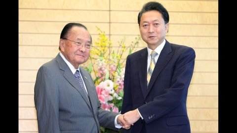 Inouye, left, shakes hands with Japanese Prime Minister Yukio Hatoyama before their meeting on January 15, 2010, in Tokyo. Inouye was a senator for all but three of the Hawaii's 53 years as a state and had served as its first House member before that.