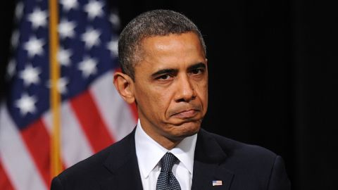 <strong>December 16: </strong>U.S. President Barack Obama speaks at an interfaith vigil for the shooting victims from Sandy Hook Elementary School at Newtown High School in Newtown, Connecticut.
