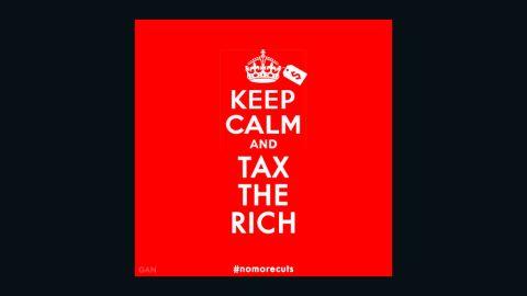 """""""Keep Calm & Tax the Rich"""" by Gan Golan"""