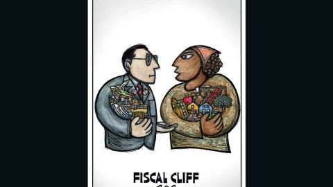 """""""Fiscal Cliff 101,"""" by Ricardo Levins Morales"""