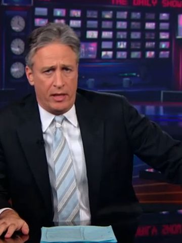 """""""The Daily Show"""" has aired on Comedy Central since 1996.  Jon Stewart became host of the slightly re-named late-night program in 1999. It draws its comedy from current events."""