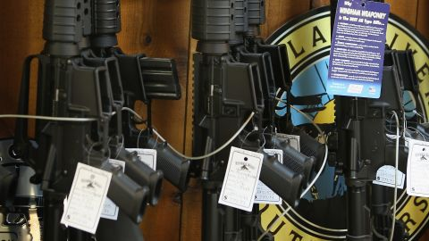 Under a 1994 law, some variants of new AR-15 semi-automatic rifles were banned until 2004.