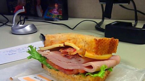 <strong>Panera Bread's Full Bacon Turkey Bravo: </strong>This 800-calorie combination of smoked turkey, Applewood-smoked bacon, and smoked Gouda with lettuce and tomato on a tomato basil loaf tips the sodium scale at 2,800 milligrams. Cured bacon and processed meats are typically high in sodium, Kleiner says. The bread alone weighs in at 320 mg of sodium.