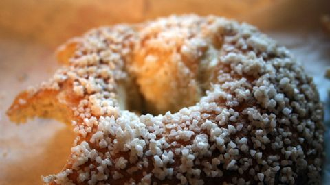 """<strong>Dunkin' Donuts' Salt Bagel:</strong> Is a bagel better for you than a donut? Not when the word """"salt"""" is in it. Dunkin's version packs 3,350 milligrams of sodium and 310 calories."""