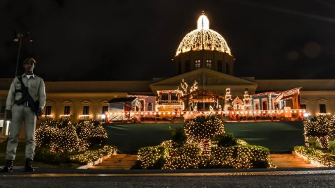 """Each year the beautiful neoclassical Placio Nacional building in Santo Domingo is given a Christmas makeover. This photo of the presidential palace was taken by <a href=""""http://ireport.cnn.com/people/misael"""" target=""""_blank"""">Misael Rincon</a>, a 31-year-old TV producer from the Dominican Republic."""