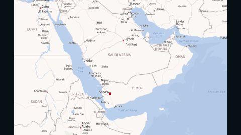 Map: Sanaa, Yemen
