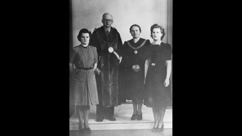 Thatcher with her parents and sister Muriel in 1945. Thatcher, born Margaret Hilda Roberts in 1925, studied chemistry at Oxford University and worked as a research chemist before becoming a barrister in 1954.