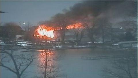There are unconfirmed reports that firefighters battling a blaze in the early morning hours on Monday, December 24, 2012 in Webster, New York are being shot at with assault weapons.
