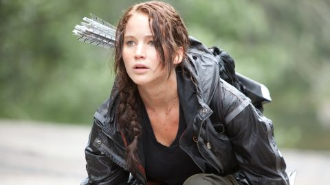 """Jennifer Lawrence stars as """"The Hunger Games"""" heroine Katniss Everdeen, who is an excellent archer."""