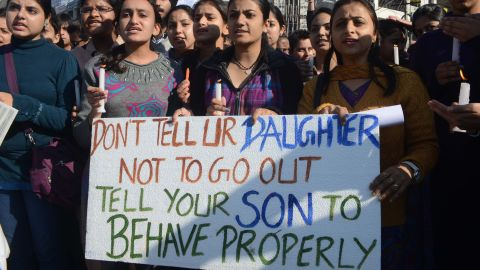 Indian students in Amritsar on December 20 protest against the New Delhi rape that ultimately resulted in a woman's death.