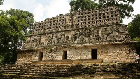 """Yaxchilán ruins in Chiapas, Mexico. See the rest of Travel+Leisure's gallery <a href=""""http://www.travelandleisure.com/articles/worlds-most-mysterious-buildings/12"""" target=""""_blank"""" target=""""_blank"""">here</a>."""
