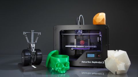 We love the emergence of 3-D printers, such as this MakerBot Replicator 2. But let's make them affordable.